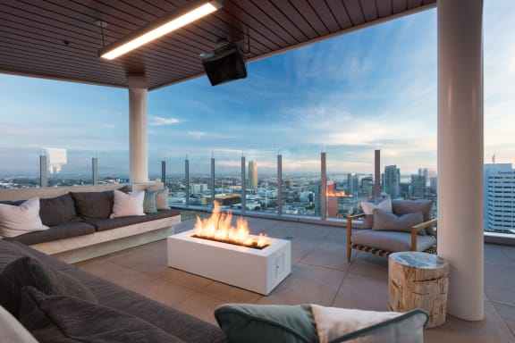 Common seating area with firepit