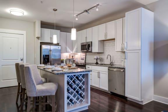 Kitchen With Modern Lighting at Berkshire Dilworth, North Carolina, 28204