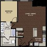 floor plan at Berkshire Dilworth, NC