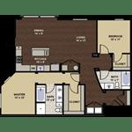 floor layout at Berkshire Dilworth, North Carolina