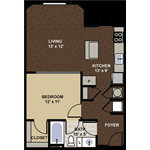Iverson ADA accessible Floor Plan at Berkshire Dilworth, Charlotte, NC