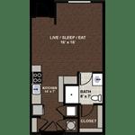 Lennox ADA accessible Floor Plan at Berkshire Dilworth, Charlotte