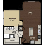 Tremont ADA accessible Floor Plan at Berkshire Dilworth, Charlotte, 28204