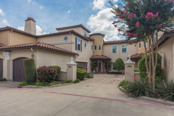 Elegant Exterior View at Estancia Townhomes, Dallas, 75248