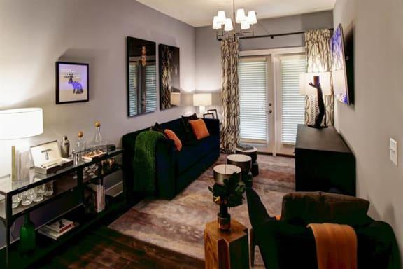 Modern Living Room at Berkshire Howell Mill, Atlanta, GA