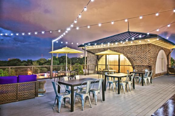 Rooftop Lounge at Berkshire Howell Mill, Atlanta, Georgia