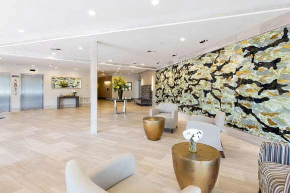 Hotel Inspired Lobby and Elevators at Gatehouse 75, Massachusetts, 02129