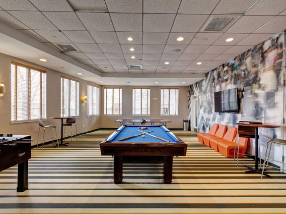 Resident Amenity Club with Billiards Room -HighPoint Apartments Quincy MA