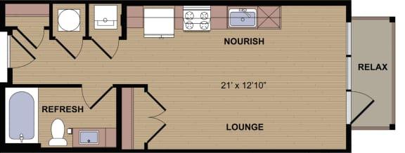Floor Plan  Sunbury A Floor Plan at Berkshire Howell Mill, Atlanta, 30318