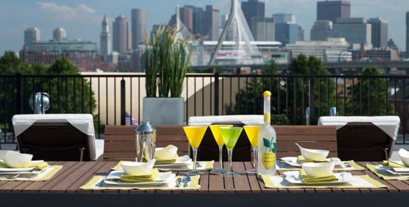 Rooftop Dining at Gatehouse 75, Charlestown, MA