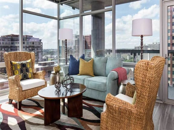 Open Concept Living with Floor to Ceiling Windows and Chicago City Views, 805 N. Lasalle Drive, Chicago, IL. 60610