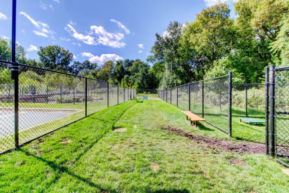 Pet Friendly Apartments Blaine MN with a dog run and pet park-Berkshire Central Apartments
