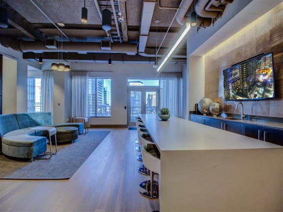 Clubhouse With Catering Kitchen at Via Seaport Residences, Massachusetts