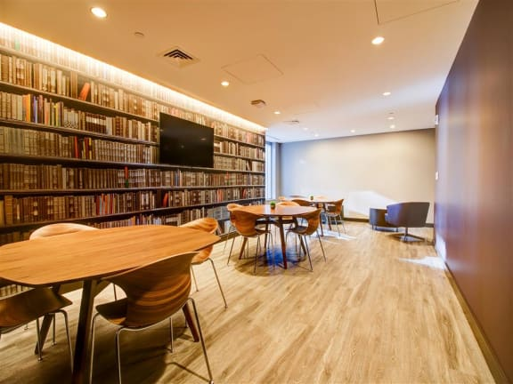 Reading Room With Ample Of Sitting Area at Via Seaport Residences, Boston, Massachusetts
