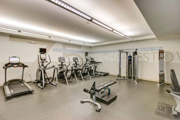 Healthy Living in Charlestown MA-Gatehouse 75 Apartments features Health and Fitness Center
