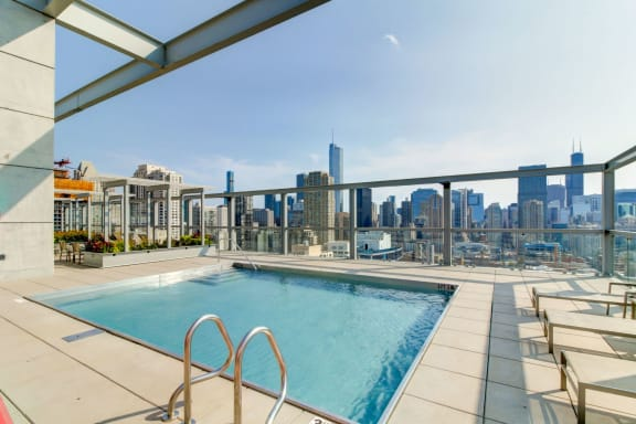 Rooftop Pool and Cabanas-805 N. Lasalle Drive, Illinois
