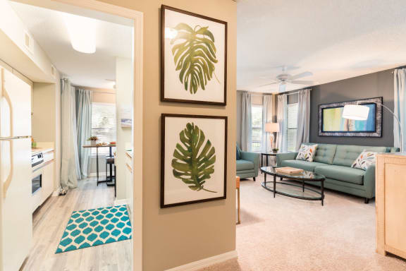 Decorated Living Space at Fountains at Lee Vista, Florida