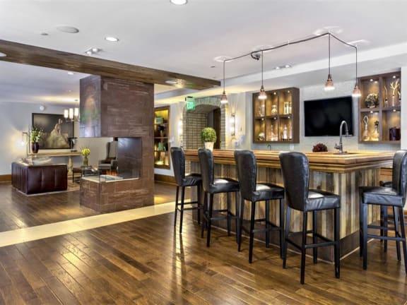 Resident Lounge Plus Kitchen at Berkshire Cameron Village, North Carolina, 27605