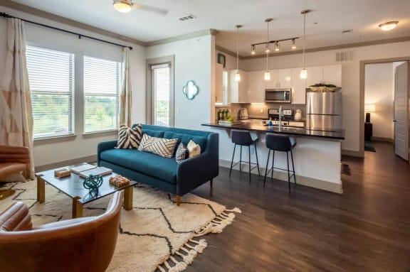 Resort Style Living Rooms at Mansions at Spring Creek, Garland, Texas