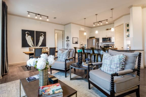 Gorgeous Living Room at Luxe Creekside, Texas