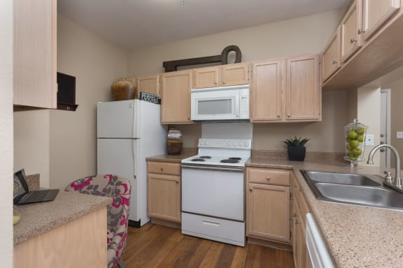 Fully Furnished Kitchen With Stainless Steel Appliances at San Marin, Austin