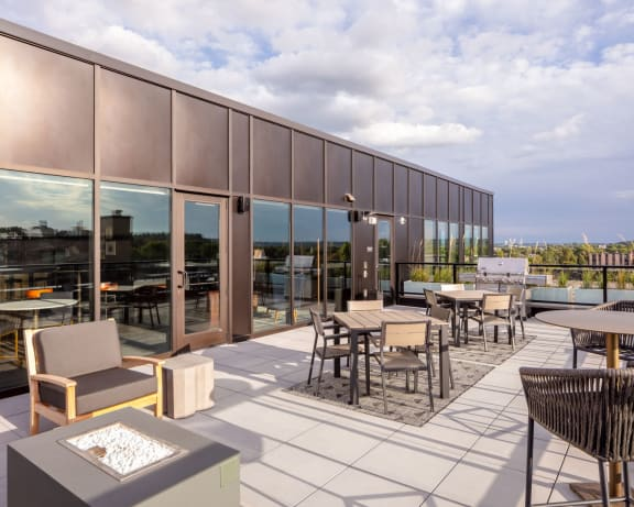 Speakeasy Deck at Rochester MN near Mayo Clinic with Skydeck and Speakeasy Bar & Lounge-The Maven on Broadway