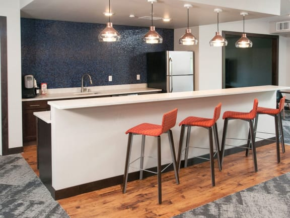 Berkshire Central Apartments with Social Spaces with Fireside Lounge, Resident ClubRoom, Work-From-Home Spaces and Communal Dining, Blaine, MN. 55434