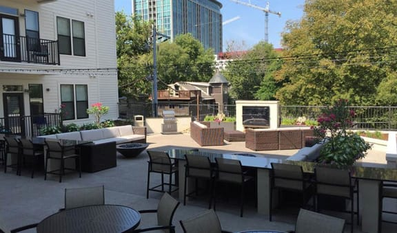 Courtyard Patio With Ample Sitting at Artisan on 18th, Nashville, TN