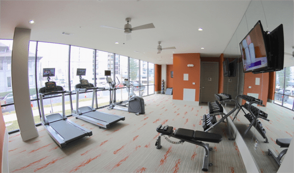 Fitness Center With Modern Equipment at Artisan on 18th, Tennessee, 37203