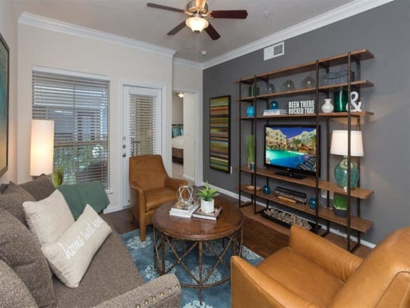 Modern Living Room at Providence Uptown, Texas, 77056
