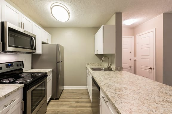 stainless steel appliances and custom cabinetry at Fountains at Lee Vista, Orlando, Florida
