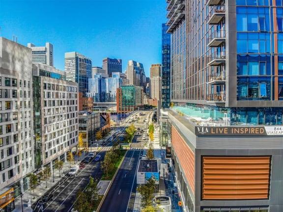 Elegant Exterior View at Via Seaport Residences, Boston