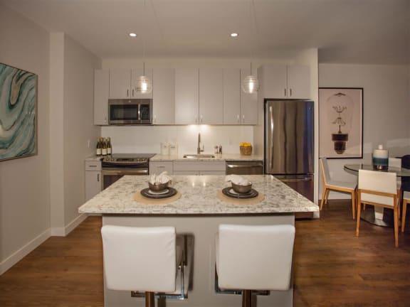 Model Kitchen at Via Seaport Residences, Boston, MA, 02210