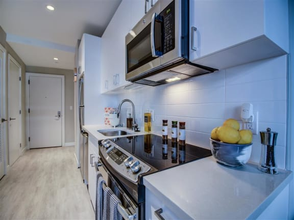 Fully Equipped Kitchen at Via Seaport Residences, Massachusetts, 02210