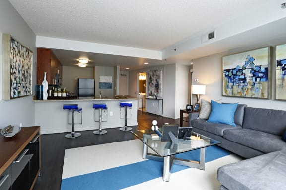 Spacious, open floor plans at The Zenith, Maryland