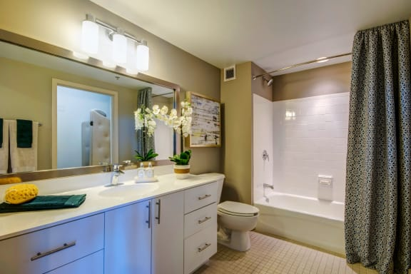 Luxurious Bathroom at The Zenith, Baltimore, MD