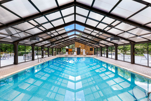 Community Swimming Pool At Iroquois Club Apartments In Naperville, IL