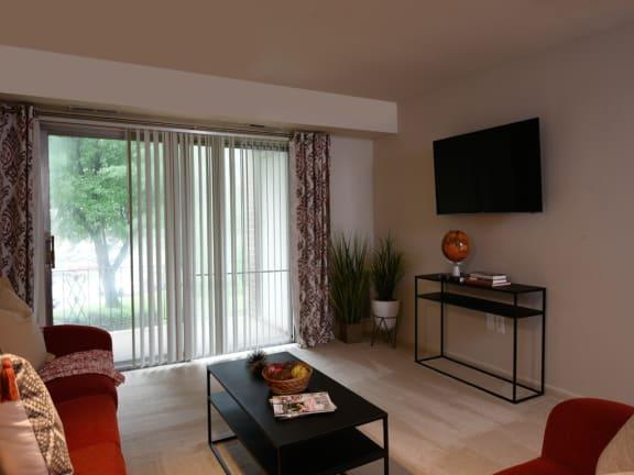 Spacious Living Room at Woodridge Apartments, Maryland