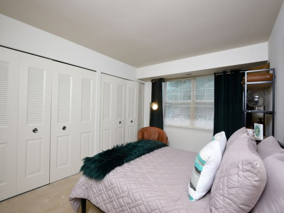 Comfortable Bedroom With Accessible Closet at Woodridge Apartments, Maryland, 21133