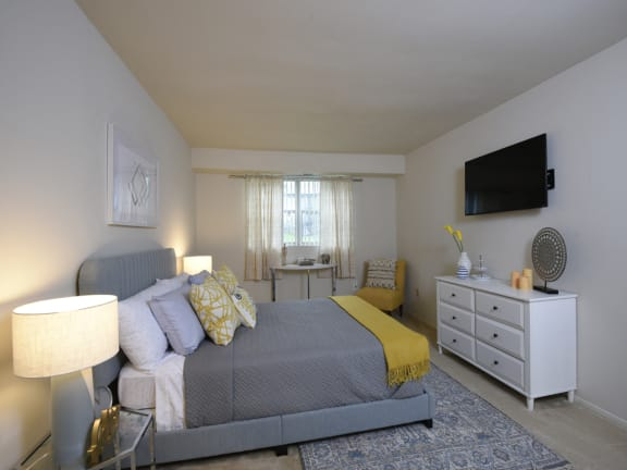 Spacious master bedroom with on suite bath