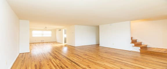 Hardwood floors and carpet available at Foxridge Townhomes