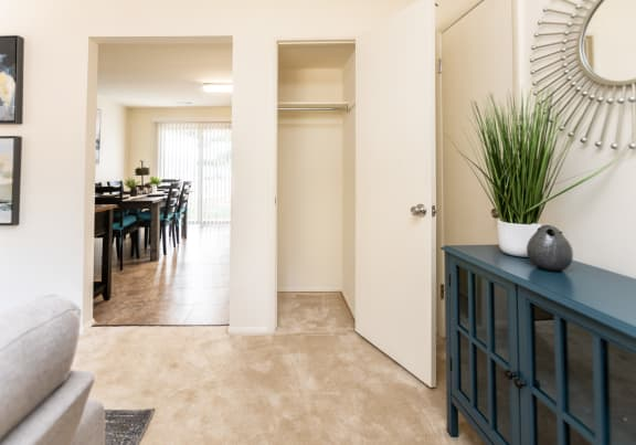 Private patio in every townhome at The Orchards at Severn