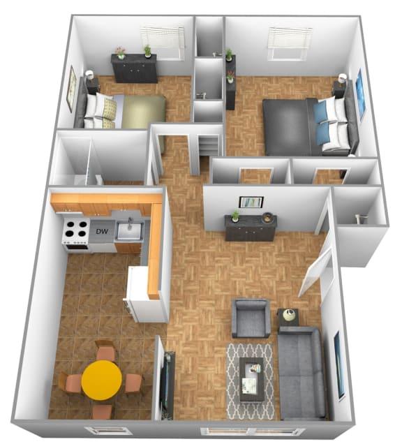 Floor Plan  Loch Raven floor plan for Winston Apartments