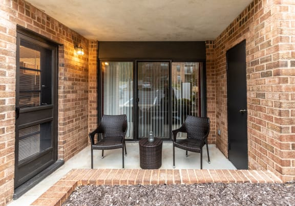 Private balcony or patio at Ivy Hall Apartments