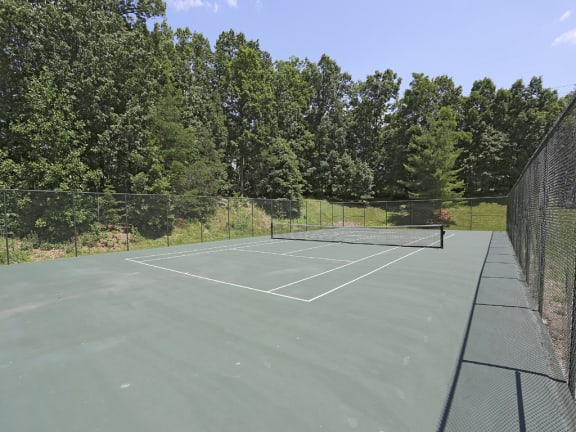 Beautiful tennis court at Spring Hill Townhomes