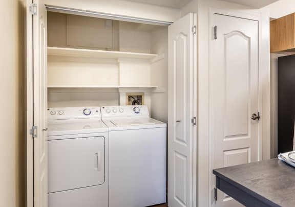 Full Size washer and dryer at Ivy Hall Apartments