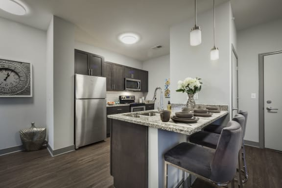 Efficient Appliances in Kitchen at Ivy at Berlin Apartments, South Bend, Indiana