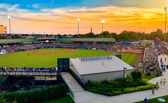 Direct access to Four Winds Field on game days