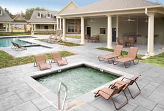 Hot tub and sun deck