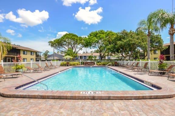 Pool view at Bay Club, Florida